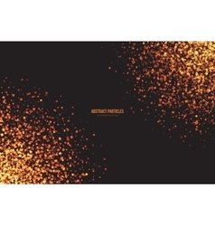Golden Shimmer Glowing Square Particles vector