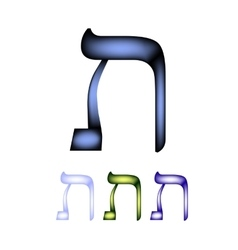 Hebrew font The Hebrew language The letter Tav vector