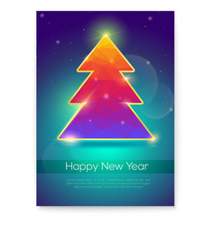 holiday posters for happy new year events covers vector image