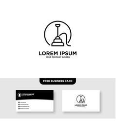 Hookah and shisha logo and business card template vector