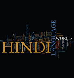 Learn hindi language online text background word vector