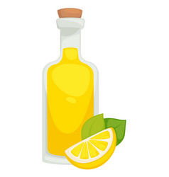 Lemonade in bottle lemon drink homemade natural vector