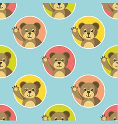 little bears seamless pattern vector image
