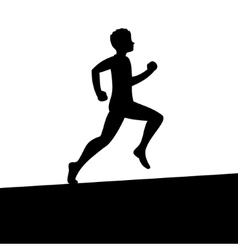 Men Running Silhouette vector image