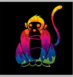 monkey cartoon graphic vector image