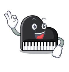 okay piano character cartoon style vector image