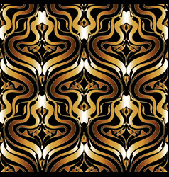 ornate gold and black abstract seamless vector image