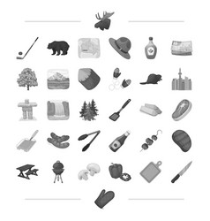 Picnic walk business and other web icon in black vector