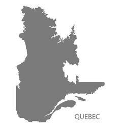 Quebec canada map grey vector