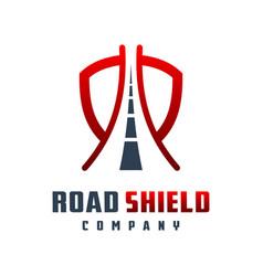 road shield logo design vector image