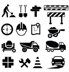 Road works icons vector