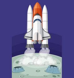 rocket launch to the space vector image