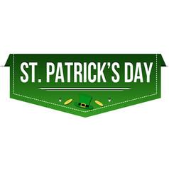 saint patricks day banner design vector image