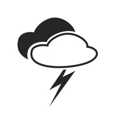 Scatterd thunderstorm Weather forecast icon vector image