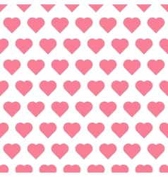Seamless pattren with hearts vector