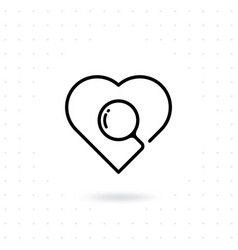 searching a love icon vector image