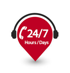 Service 24 hour and 7 day icon 24 hour vector
