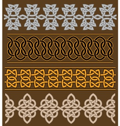 set celtic ornaments and patterns vector image