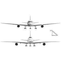 Set of big airplane in front vector