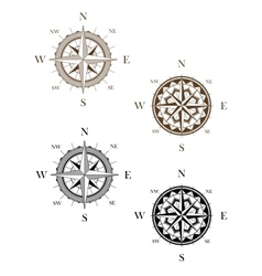 Set of vintage compass signs vector