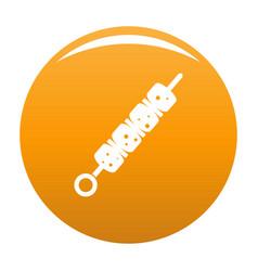 shish kebab icon orange vector image