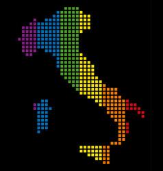 spectrum pixel lgbt italy map vector image