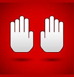 stop concept background hand gesture palms as vector image