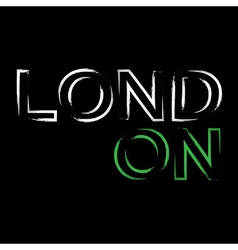 T shirt typography graphics London city brush vector image