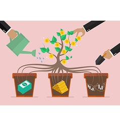 Take care your business investment vector image