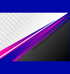 template corporate concept blue purple and black vector image