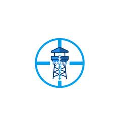 tower beach guard logo designs inspiration vector image