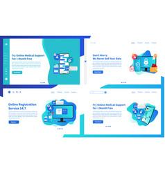 web page design online medical ui vector image