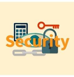 Web security concept vector