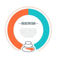 Website banner and landing page meditation vector