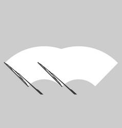 Windscreen check wiper vector