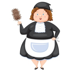 Woman Dressed Maid vector image