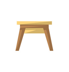 Wooden stool isolated icon in flat style vector