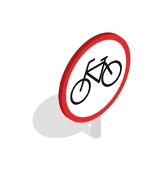 Bicycle sign icon isometric 3d style vector image vector image