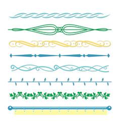 borders monograms line vintage design vector image