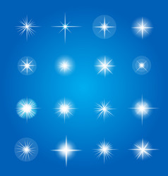 glowing lights and stars vector image vector image