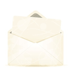 Vintage envelope with white paper vector image vector image