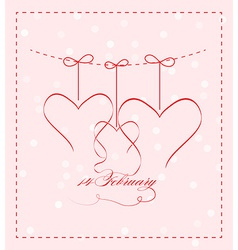 14 feb greating card vector image vector image