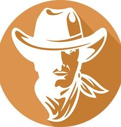 American Cowboy Icon vector image vector image