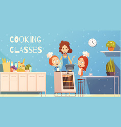 cooking classes for children vector image vector image