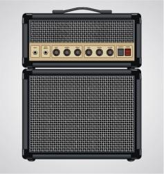 guitar amplifier vector image vector image