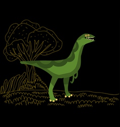 litle dinosaur vector image