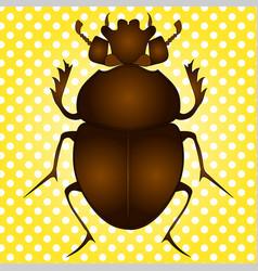 pop art egyptian scarab beetle brown vector image