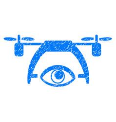 video spy drone grunge icon vector image