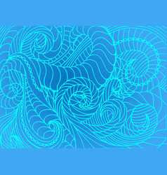abstract wave background of doodle hand vector image