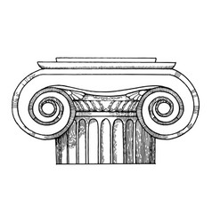 capital of column engraving style vector image vector image